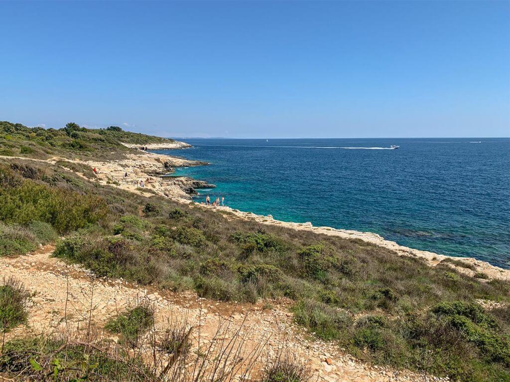 Einer der schönsten Strände Istriens, der Plaža Mala Kolumbarica © Siegbert Mattheis