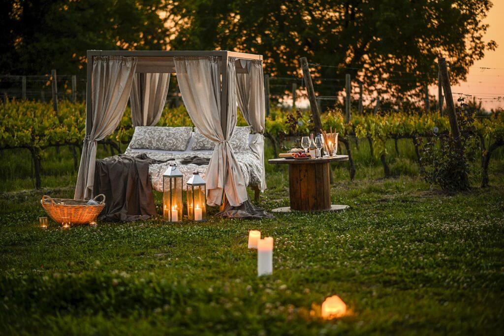 Den romantischen Blick in den Sternenhimmel und die Ruhe der Weinberge rundherum genießen ... © Tenuta di Fra, Patrick Schwiembacher