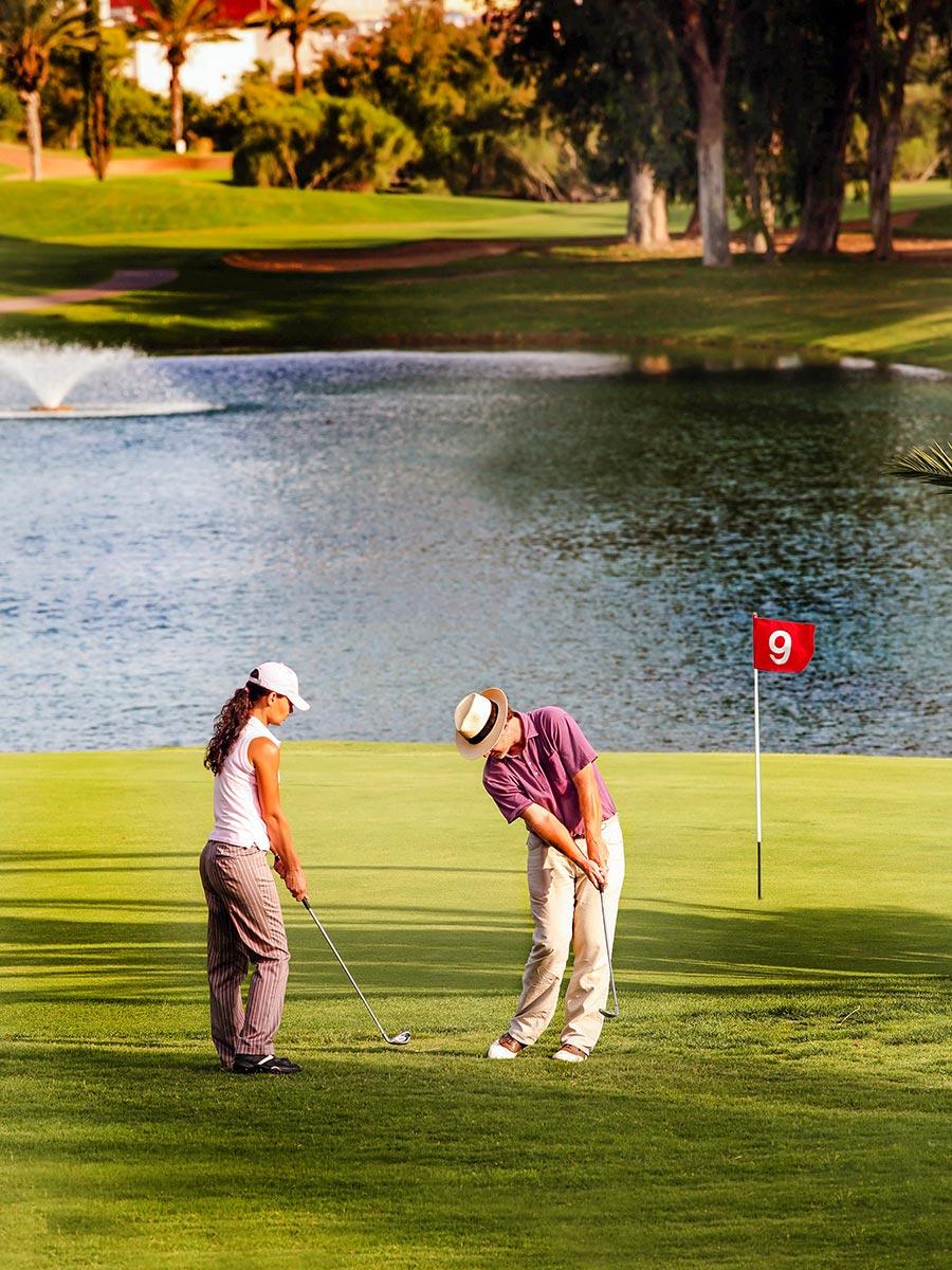 Golfen Marokko, zwei Spieler