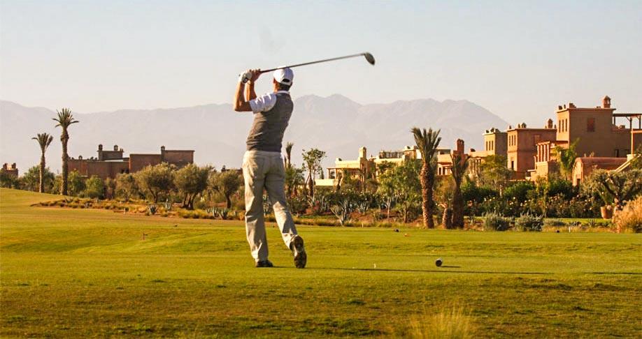Golfen Marokko, Abschlag im Samanah Marrakesch
