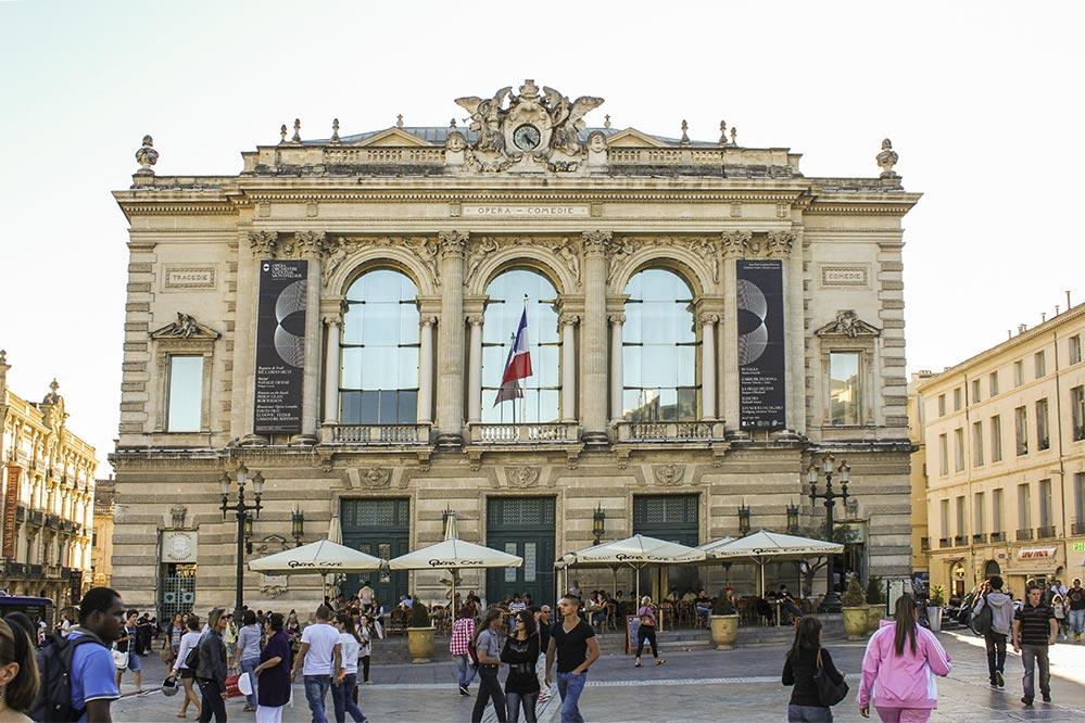 Die Oper am Place de la Comédie