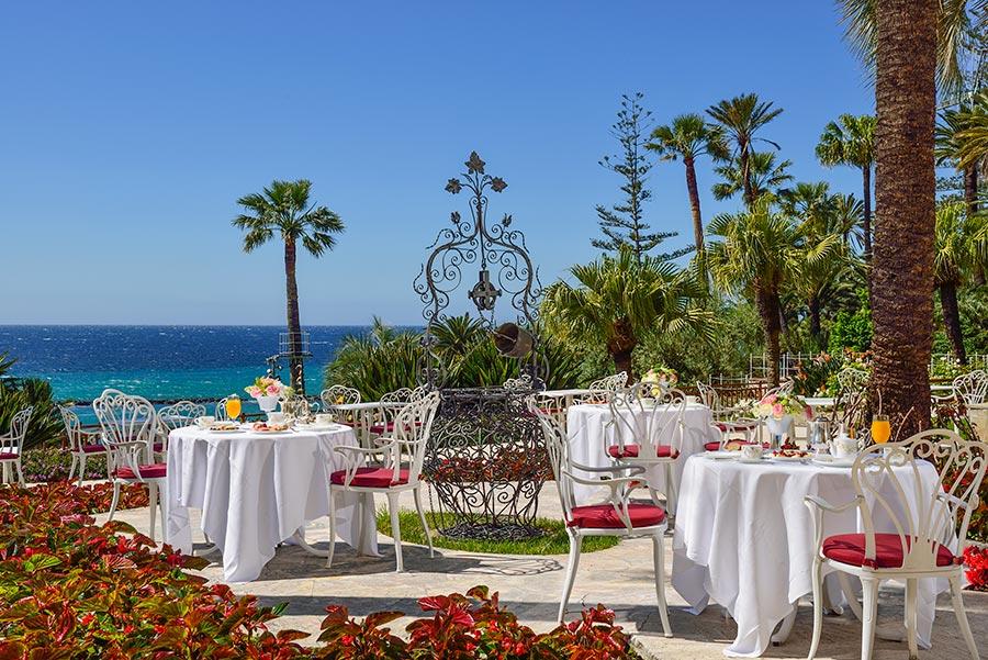 Frühstücksterrasse Royal Hotel Sanremo