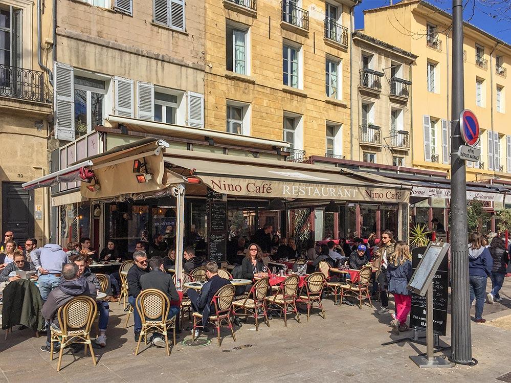 Café am Cours Mirabeau in Aix © Siegbert Mattheis
