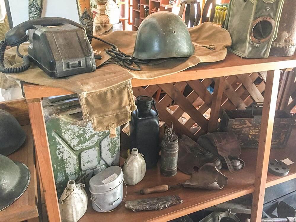 Relikte der Wehrmacht, die Rhodos von 1943 bis 1945 besetzte © Siegbert Mattheis