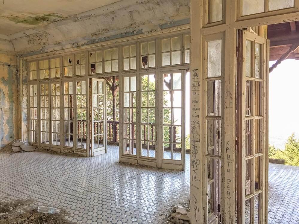 Villa Mussolini, Saal im Erdgeschoss © Siegbert Mattheis