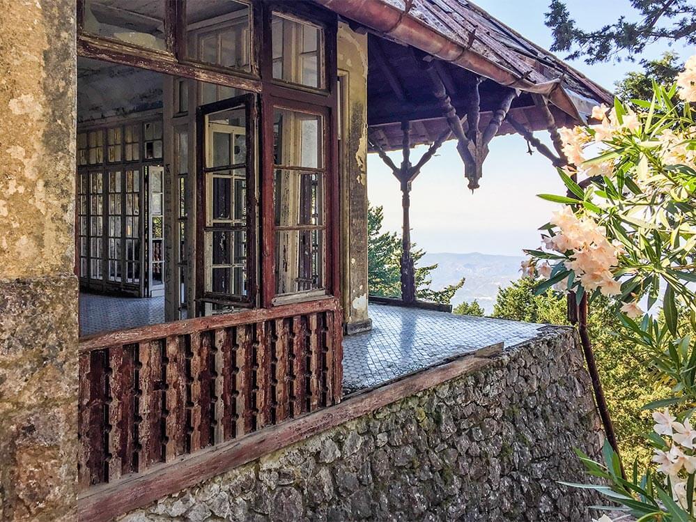 Rhodos Villa Mussolini, Weiter Panoramablick nach Westen über die Insel © Siegbert Mattheis