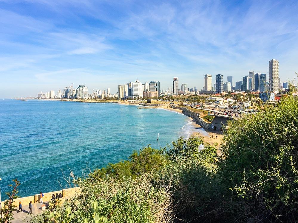 Skyline von Tel Aviv mit Strand © Siegbert Mattheis