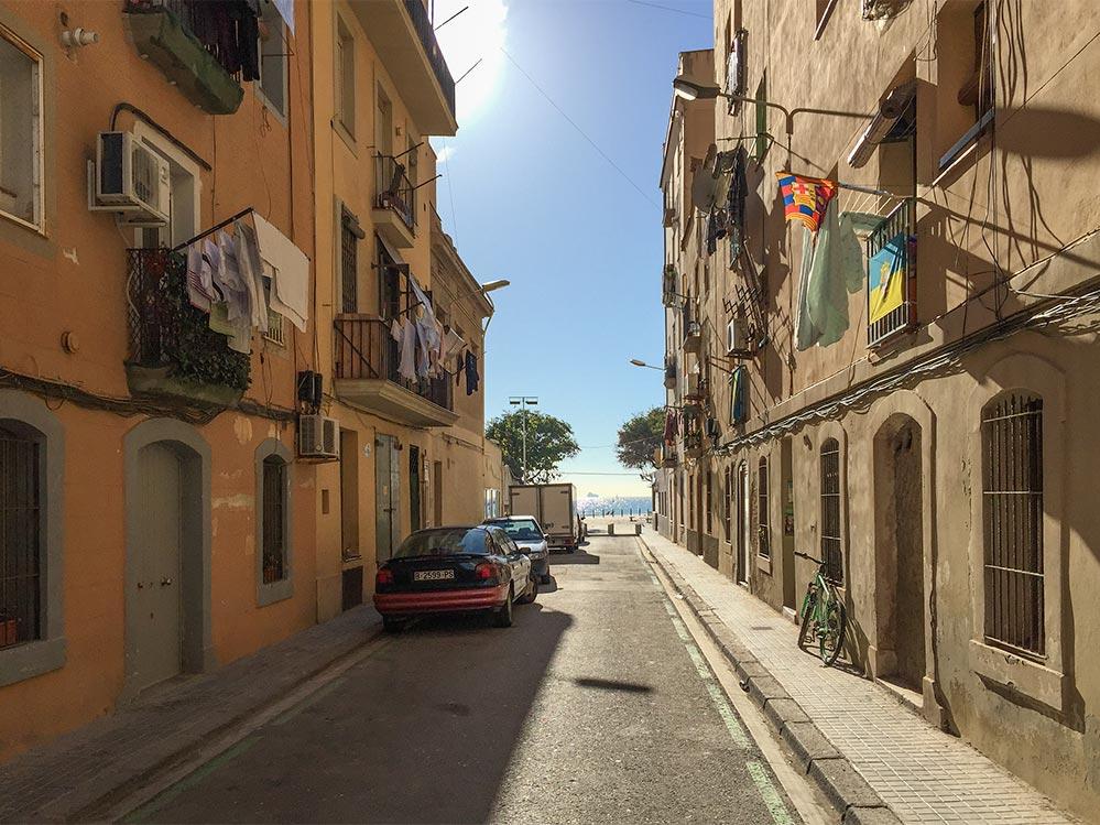 Gasse in Barceloneta © Siegbert Mattheis