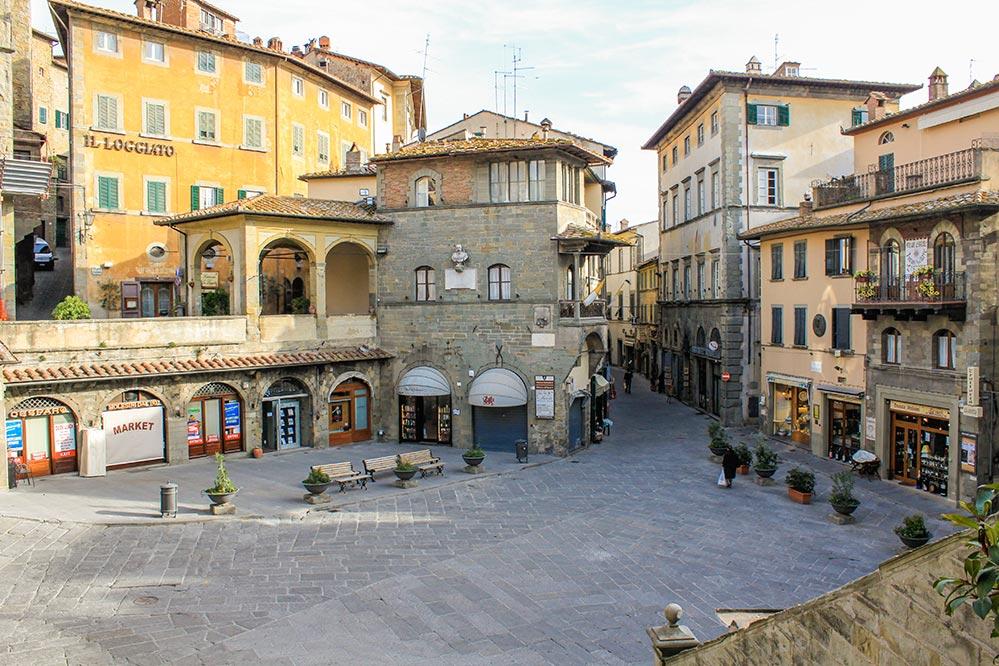 Marktplatz in Cortona © Siegbert Mattheis