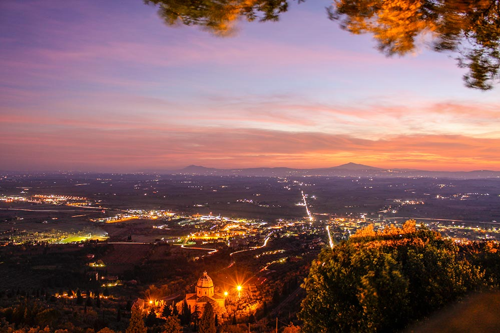 Weite Blicke über die Ebene von Cortona aus © Siegbert Mattheis