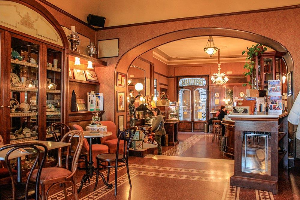 Das wunderschöne historische Caffé Poliziano in Montepulciano © Siegbert Mattheis