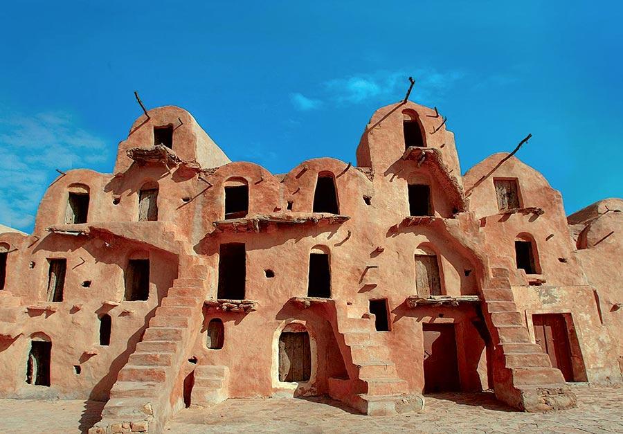 Typische Häuser in Ksour © discovertunisia.com