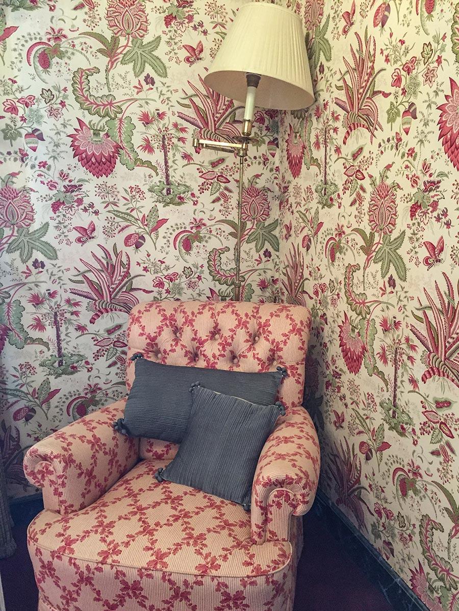 Der Instagram-Raum mit Tapeten aus Toile-de-jouy © Siegbert Mattheis