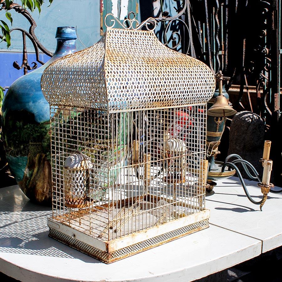 Vintage-Vogelkäfig vom Flohmarkt © Siegbert Mattheis
