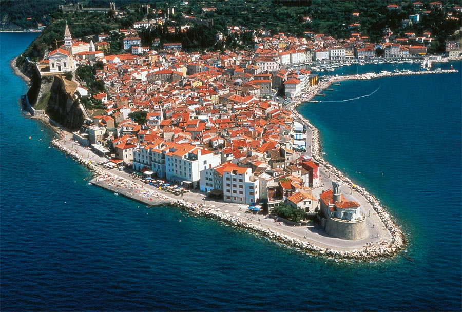 Piran auf einer Halbinsel an der Adria