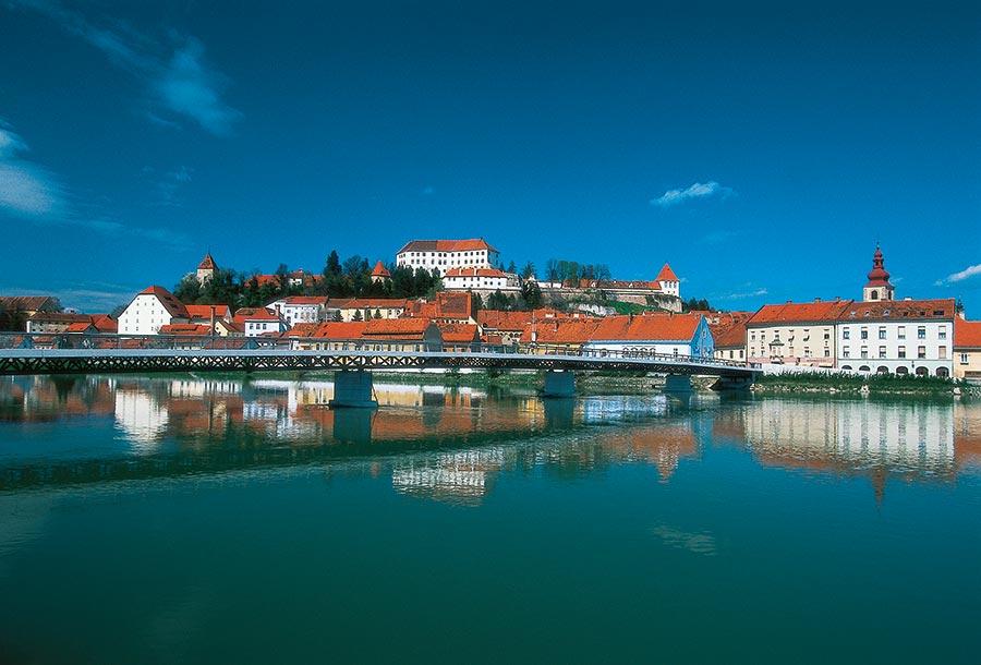 Ptuj am Fluss Drava