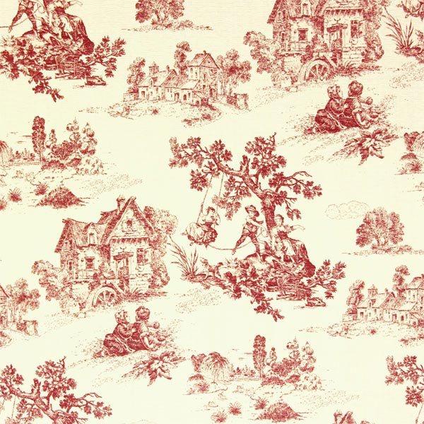 Toile-de-Jouy Stoff in rot