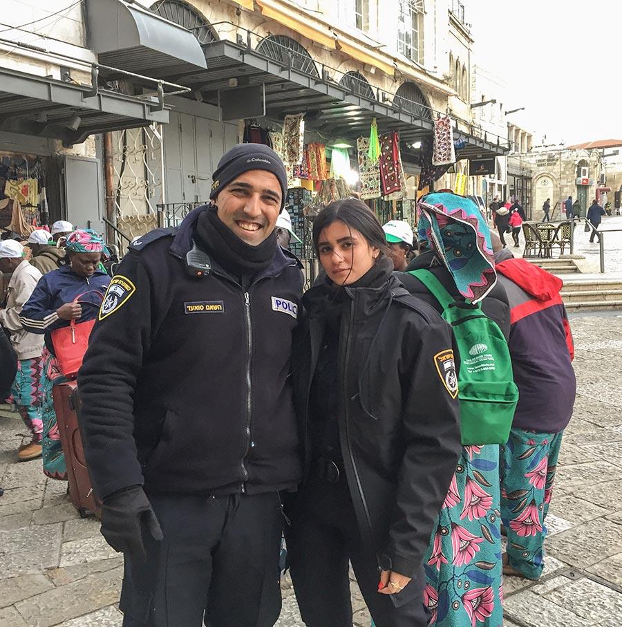 Überall präsent sorgen die Polizisten für ein sicheres Gefühl