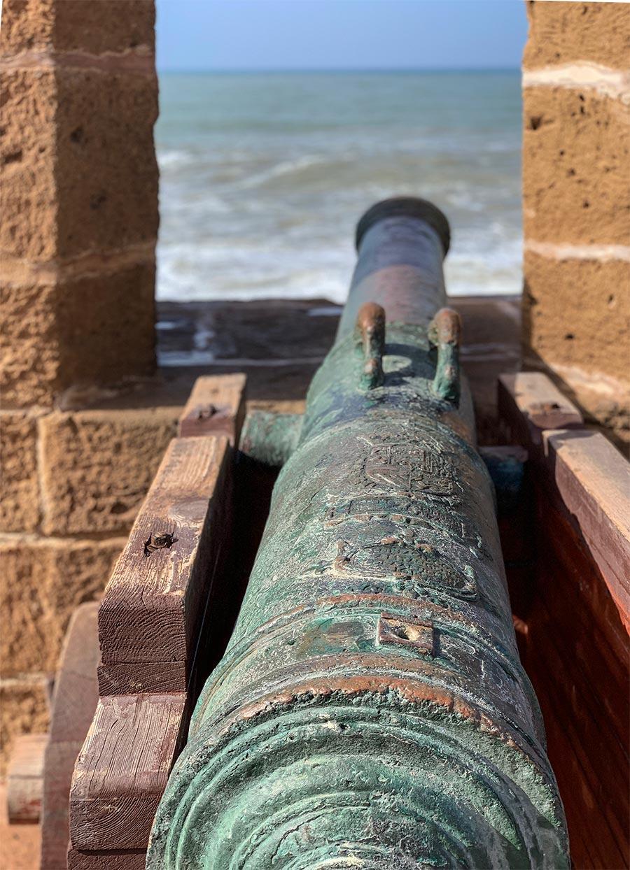 Alte portugiesische Kanone