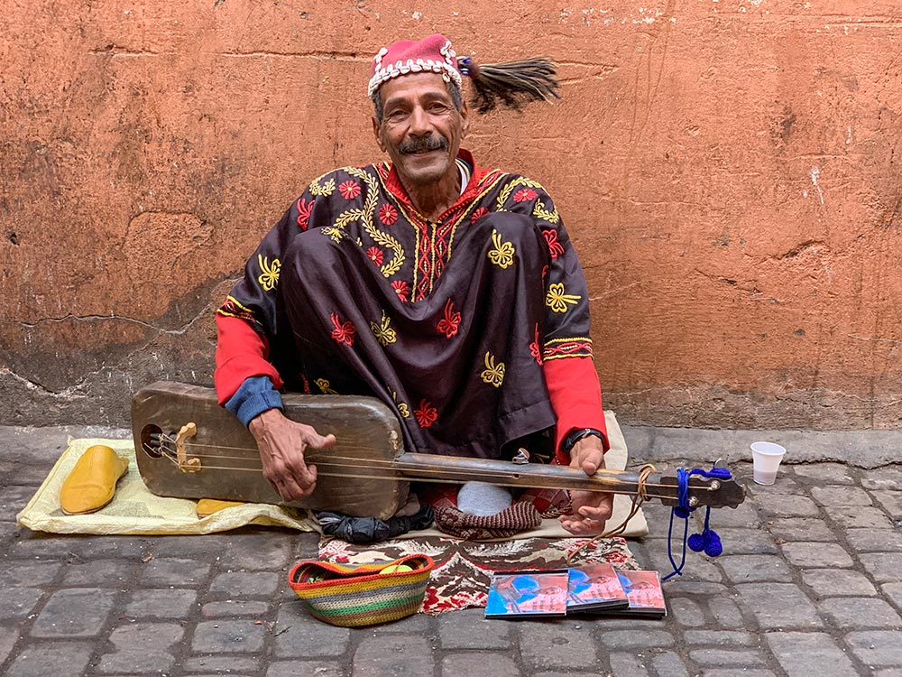 Berber-Musiker in Tracht