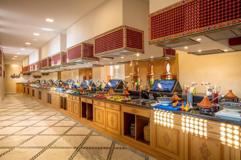Kochstationen im Museum mit viel Platz