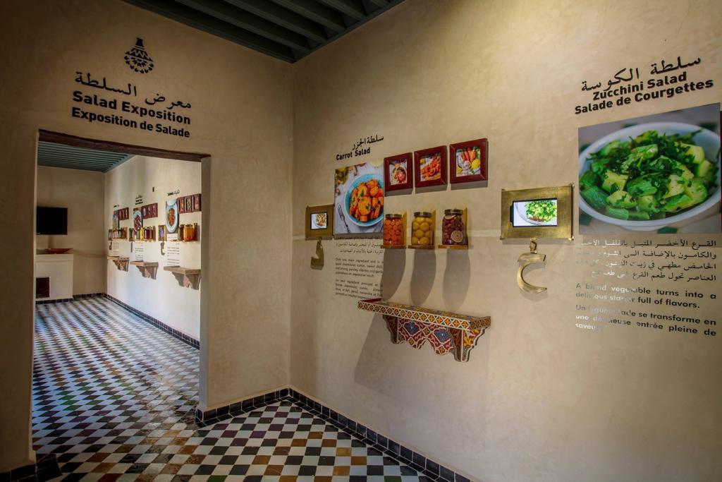 Die verschiedenen Zonen des Museums, hier die Salatzone
