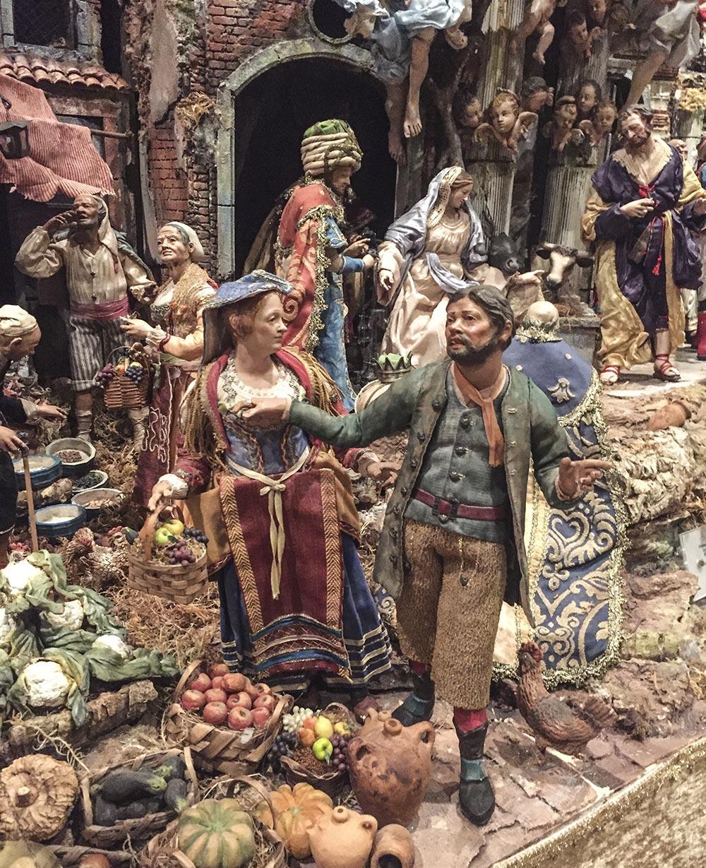 Szenen aus der neapolitanischen presepe