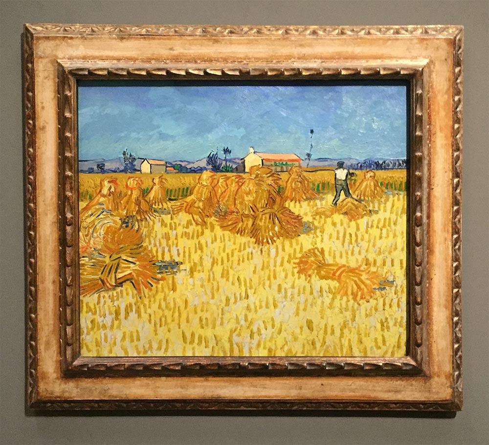 Vincent van Gogh,Ernte in der Provence, 1888, Öl auf Leinwand