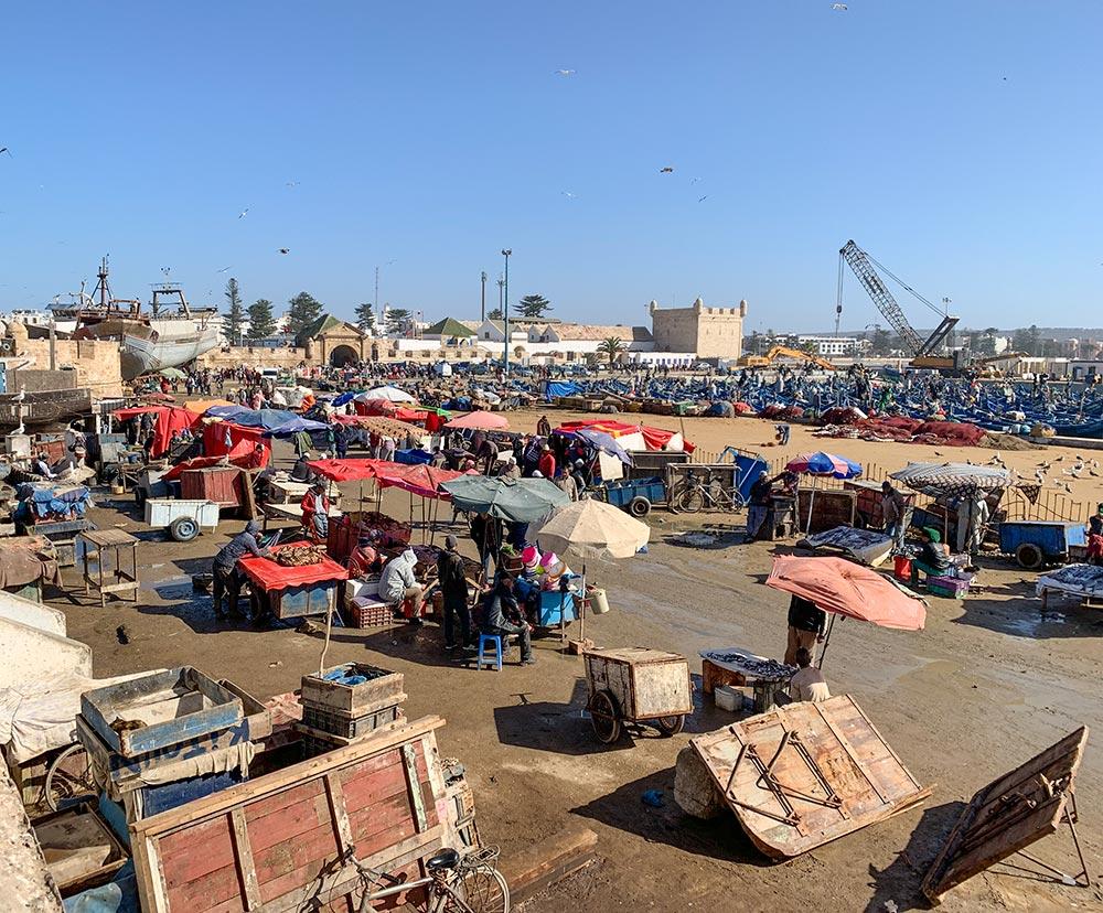 Fischmarkt am Hafen © Siegbert Mattheis