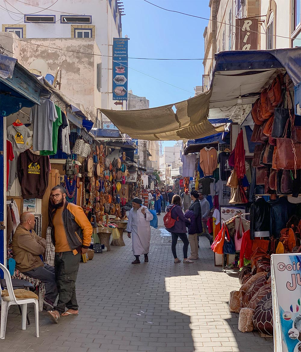 Stände in der Medina