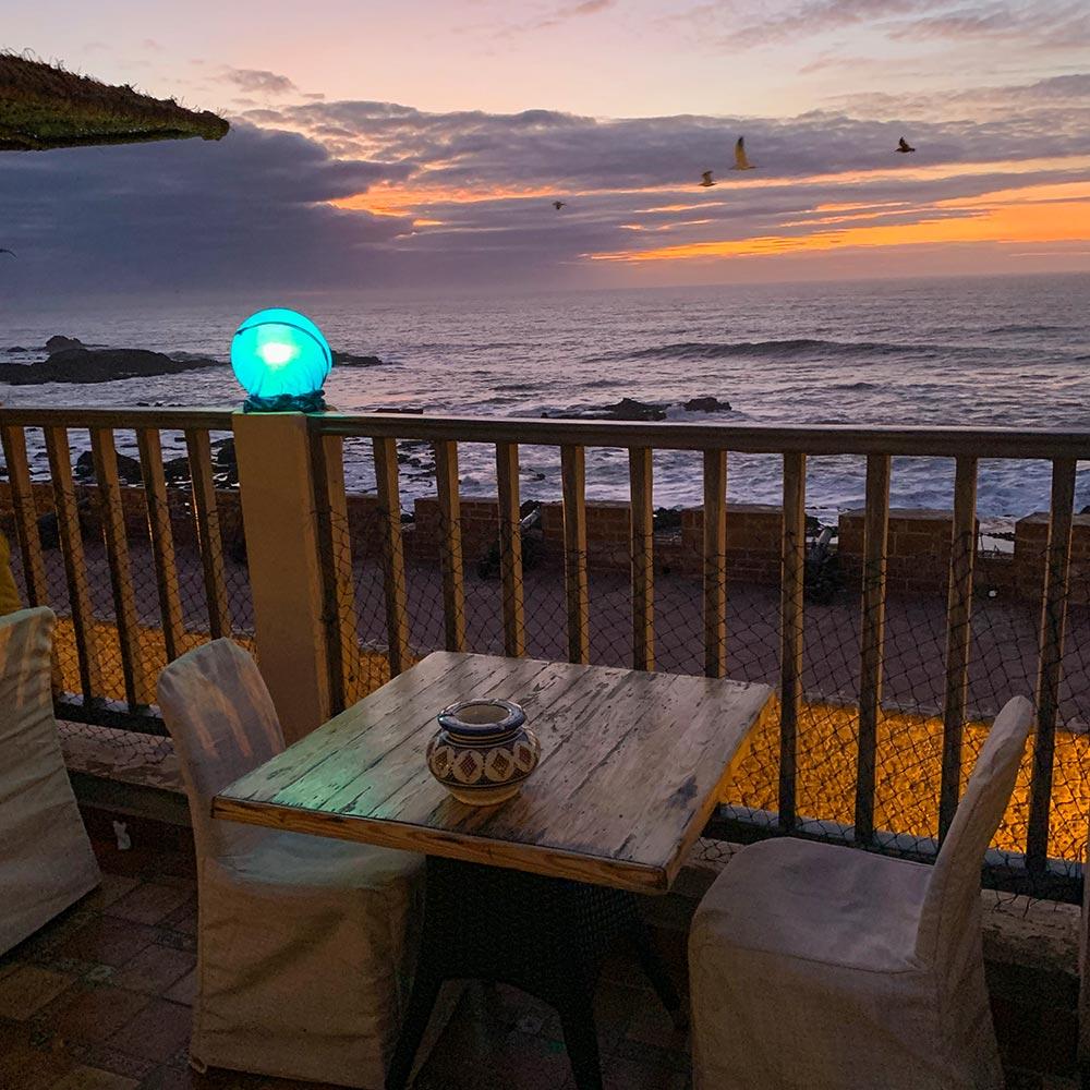 Blick aufs Meer vom Restaurant Il Mare