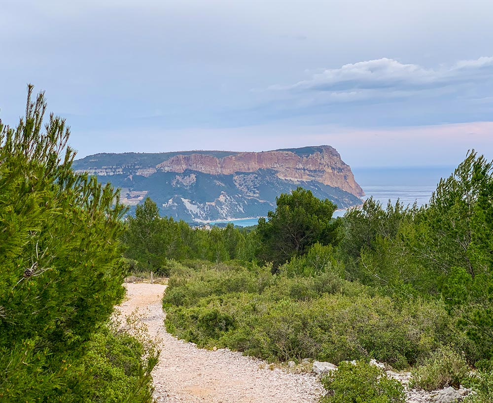 Blick auf Cap Canaille, 5 Min. von der Route de la Gineste aus