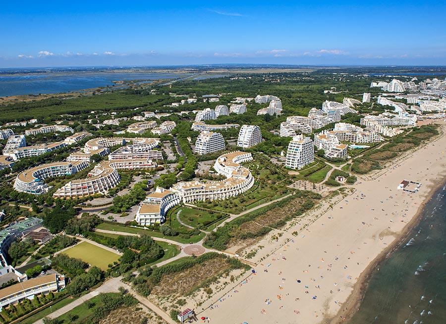 Strand und Siedlung la Grande Motte