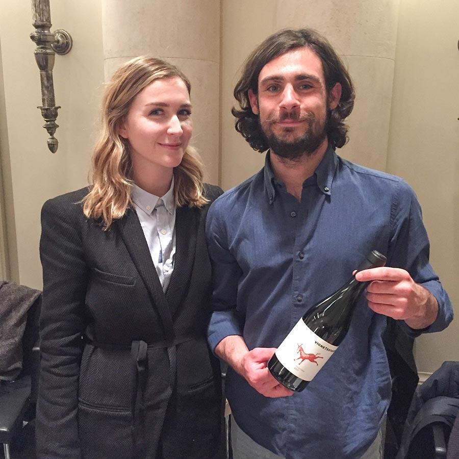 Bernardo Giannozzi mit Freundin Aurelia vom Weingut Vignetestarde © Siegbert Mattheis