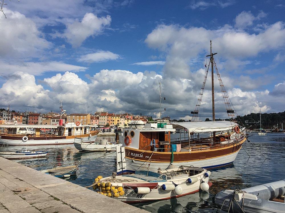 Der Hafen von Rovinj