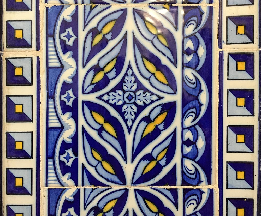 Ornamentale Azulejos mit Bordüre © Siegbert Mattheis