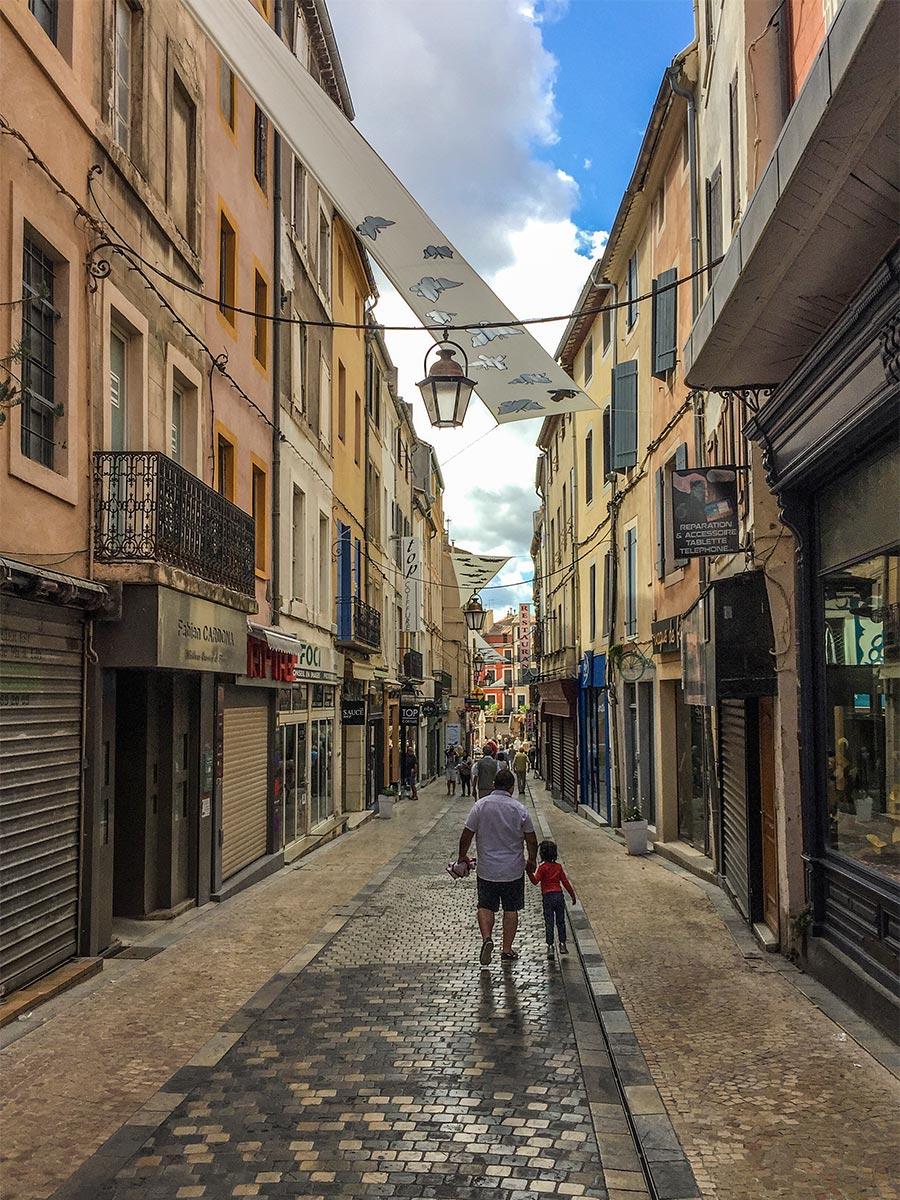 Die Altstadtgassen von Narbonne © Siegbert Mattheis