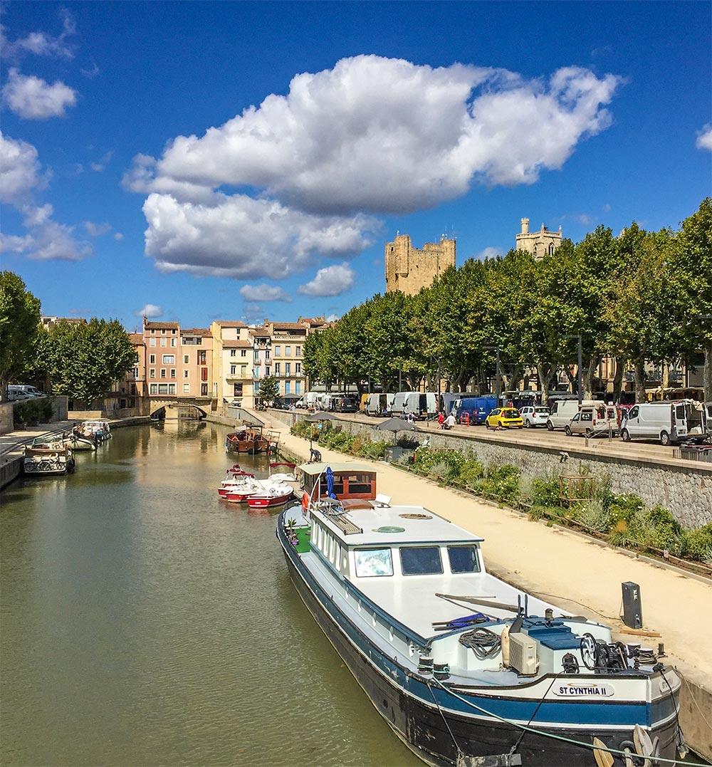 Die Brücke Pont des Marchands über den Kanal de la Robine © Siegbert Mattheis
