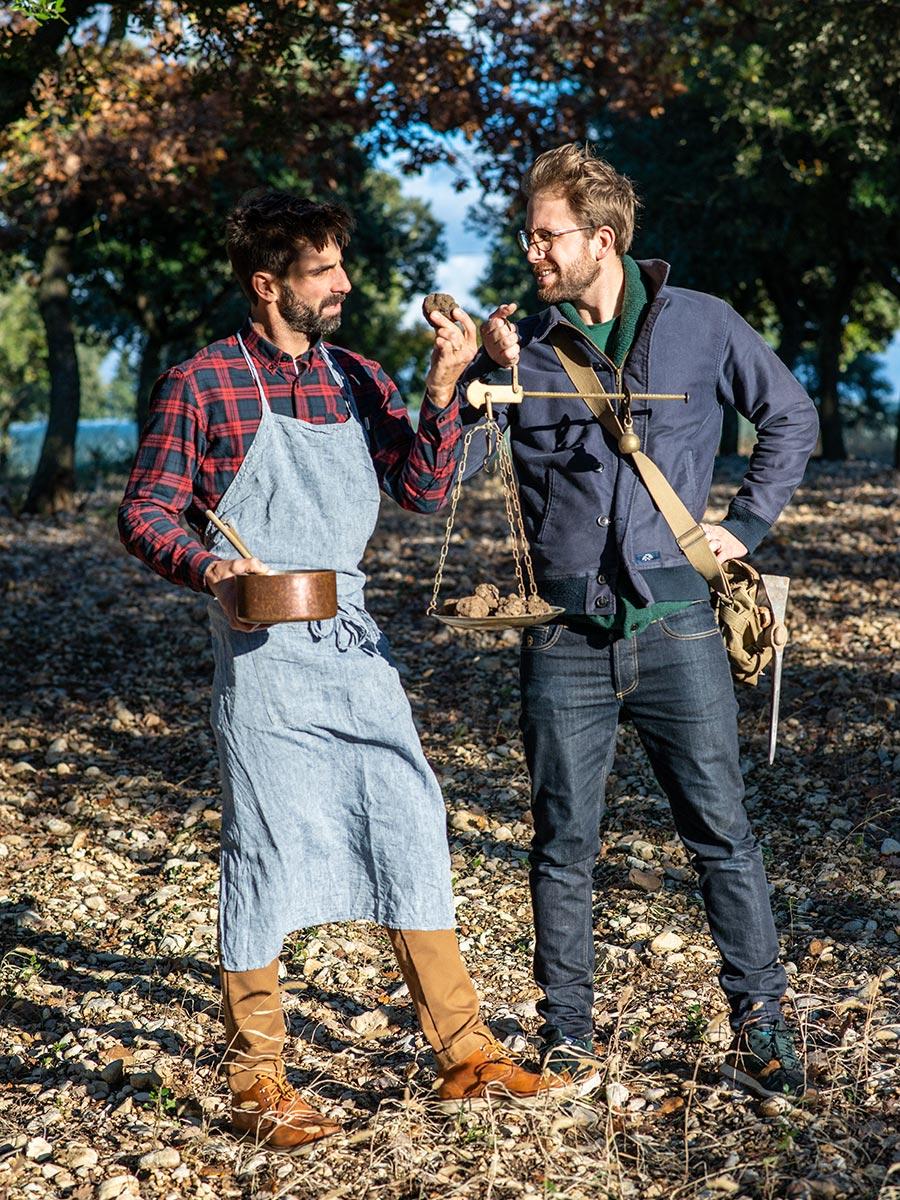 Trüffel suchen mit Alexis und Franck Jaumard in der Provence