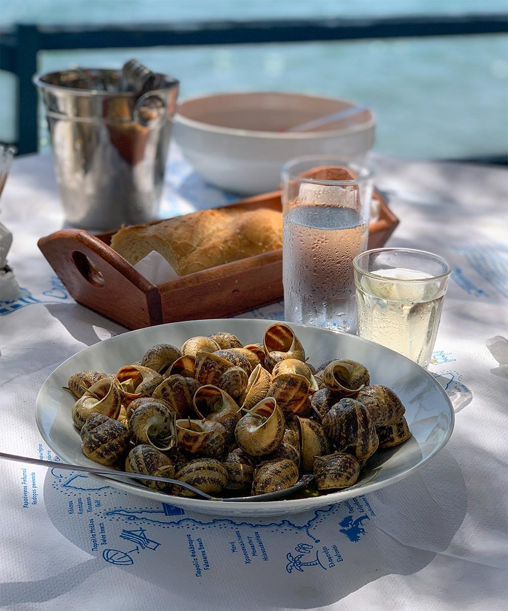 Chochlioi, Schnecken aus Kreta