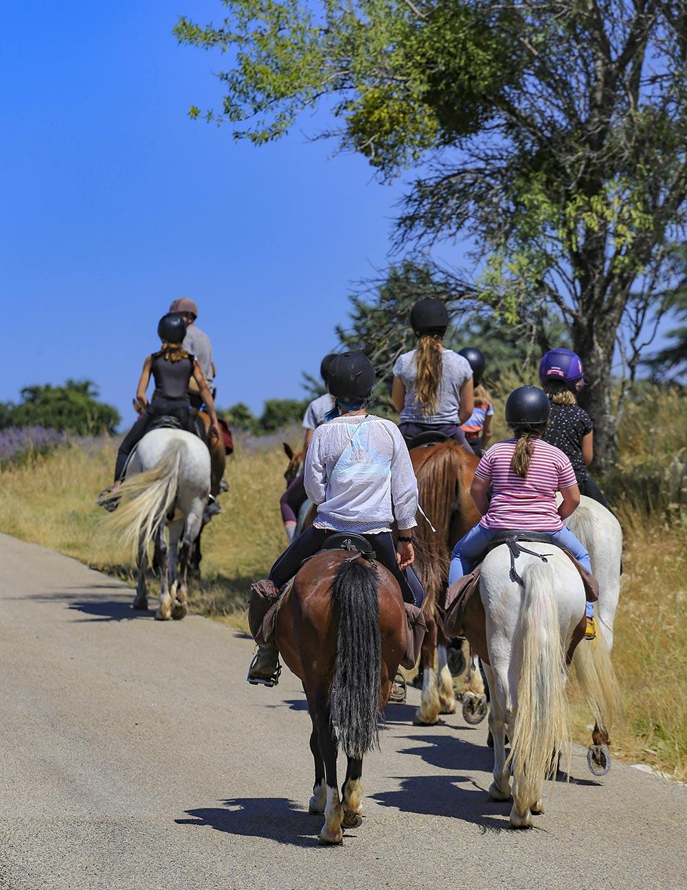 Reiten in der Provence mit Kindern