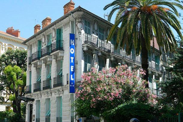 Hotel Villa Rivoli in Nizza von Außen