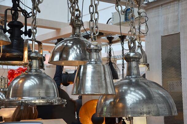 Lampen im Industrie-Stil, z.B. aus Rohnickel @ Foto: Siegbert Mattheis