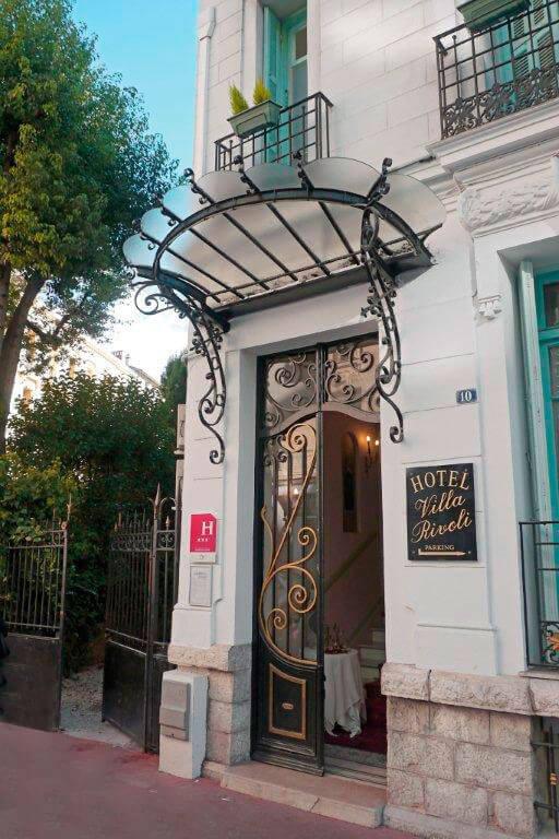 Villa-Rivoli-Eingang