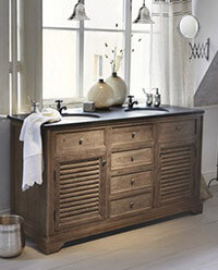 doppelwaschtisch ambiente mediterran. Black Bedroom Furniture Sets. Home Design Ideas